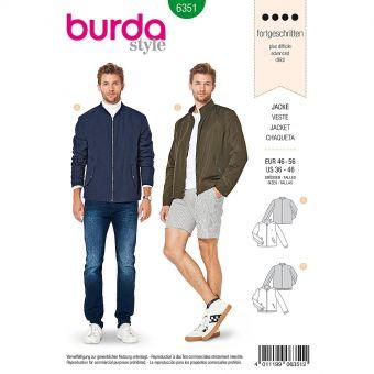 Patron Burda 6351 - Veste pour hommes de 48 à 58