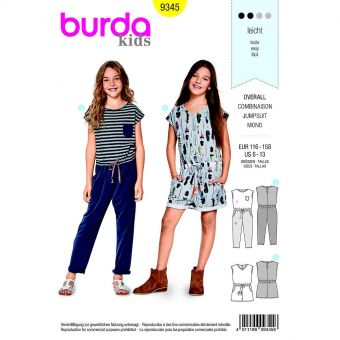 Patron Burda  Kids 9345 Combinaison