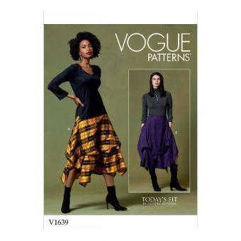 Patron Vogue 1639 Jupe femme mouchoir bouffante par Sandra Betzina - du 40 au 58