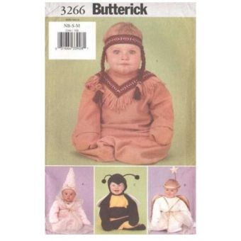 Patron Butterick 3266 - Déguisement Indien, Fée, Ange pour Bébé de 60 à 80 cm