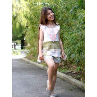 Her Little World - Patron Tee-Shirt AERIEN fille de 2 à 10 ans