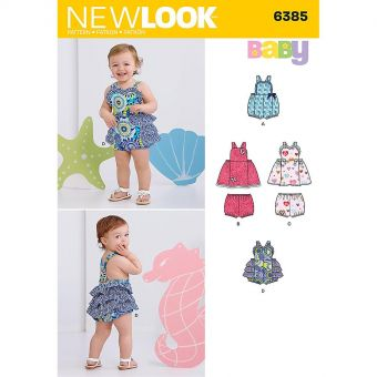 Patron New Look 6385 Robe bébé