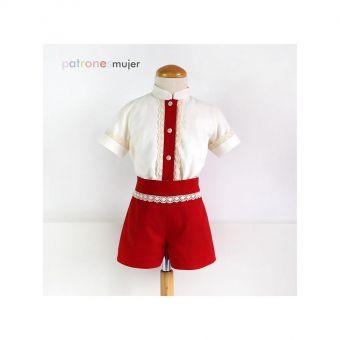Patron PatronesMujer 9105 Ensemble chemise et short garçons