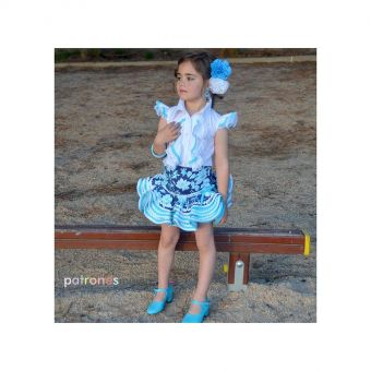 Patron PatronesMujer 9153 Ensemble court Flamenco Fillettes