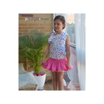 Patron PatronesMujer 9143 Ensemble fillettes jupe et blouse