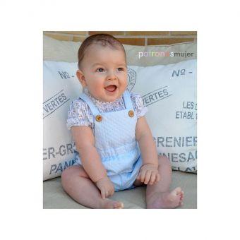 Patron PatronesMujer 9151 Ensemble salopette et blouse pour Bébés