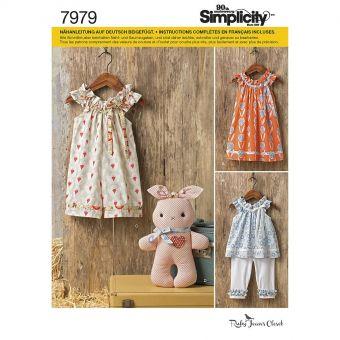 Patron Simplicity 8347 Ensemble bébés