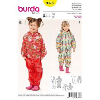 Patron Burda Kids 9378 Combinaison pluie et neige