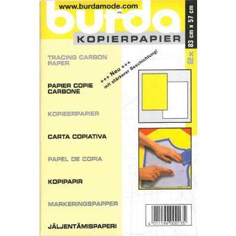 Papier Carbone Burda Jaune et Blanc - 2 feuilles 83 x 57 cm