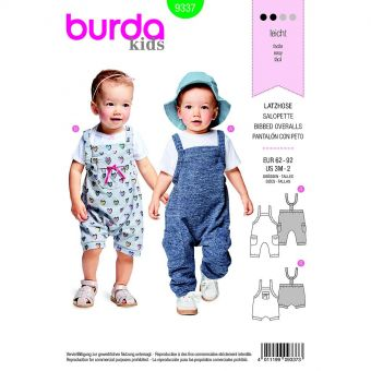 Patron Burda  Kids 9337 Salopette