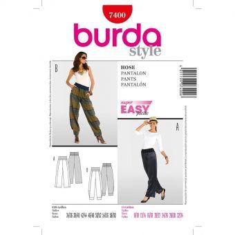 Patron Burda 7400 Pantalon
