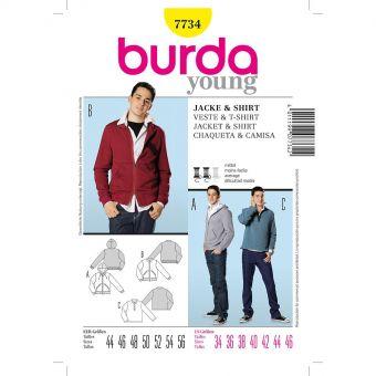Patron Burda 7734 Veste, shirt