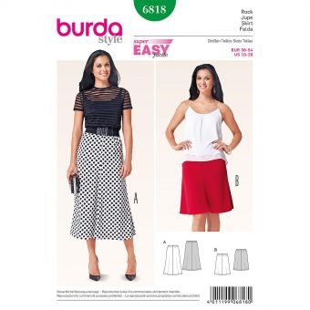 Patron Burda 6818 Jupe