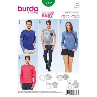Patron Burda 6602 Tee-Shirt