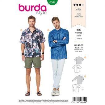 Patron Burda 6349 - Chemise Hommes de 48 à 62