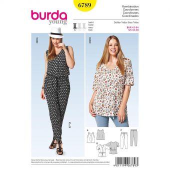 Patron Burda 6789 Ensemble dame