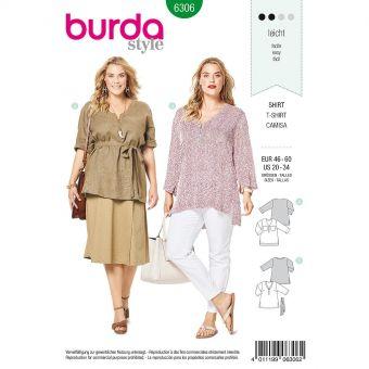 Patron Burda 6306 - Tee-Shirt pour femmes de 48 à 62