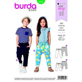 Patron Burda  Kids 9342 Pantalon
