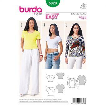 Patron Burda 6820 Tee-Shirt