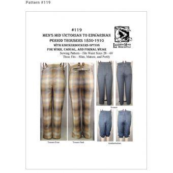 Patron Laughing Moon 119 - Déguisement Pantalon historique (1850 - 1910) pour hommes
