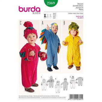 Patron Burda Carnaval 2369 - Déguisement Oiseau - Ananas - Fraise bébé
