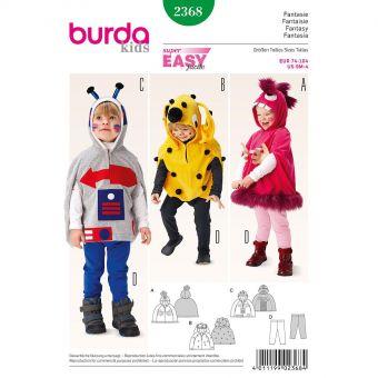 Patron Burda Carnaval 2368 - Déguisement Fantaisie cape à capuche bébé