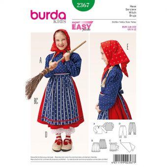 Patron Burda Carnaval 2367 - Déguisement Sorcière enfant