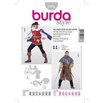 Patron Burda Carnaval 7976 - Déguisement Historique Mousquetaire et Ecuyer Homme
