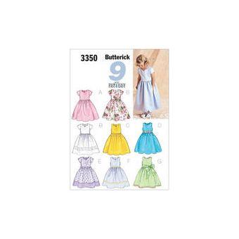 Patron Butterick 3350 - Robe de cérémonie Fille de 2 à 8 ans
