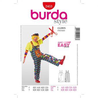 Patron Burda Carnaval 2453 - Déguisement Clown & Paysan Adulte Miste