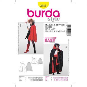 Patron Burda Carnaval 2435 - Déguisement Dracula, diablotine Adulte Mixte