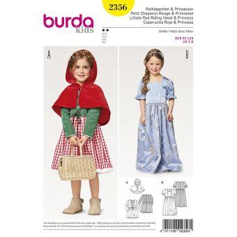 Patron Burda Carnaval 2356 -  Déguisement Petit chaperon rouge et Princesse enfant