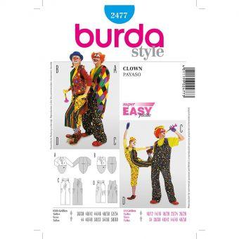 Patron Burda Carnaval 2477 - Déguisement Clown Adulte Mixte