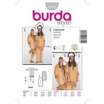 Patron Burda Carnaval 5815 - Déguisement indien Homme et Femme