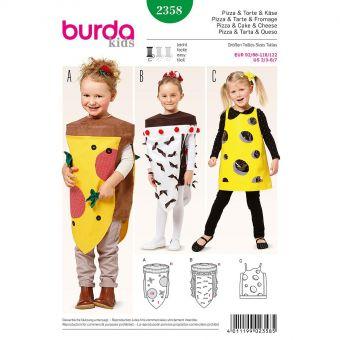 Patron Burda Carnaval 2358 - Déguisement Pizza, tarte et fromage Enfant