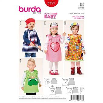 Patron Burda Carnaval 2357 - Déguisement Tee-Shirt fantaisie Enfant