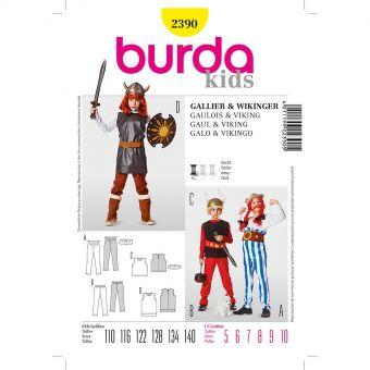 Patron Burda Carnaval 2390 - Déguisement Viking Enfant