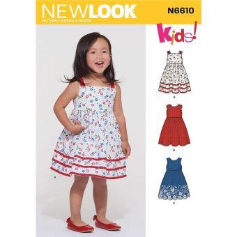 Patron New Look 6610 Robe d'été pour fillette