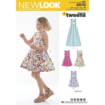 Patron New Look 6570 Robe enfants