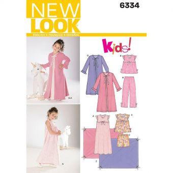 Patron New Look 6334 vêtements de nuit
