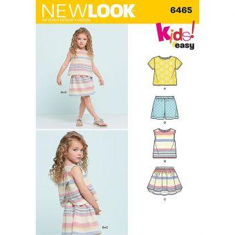 Patron New Look 6465 Ensemble fille