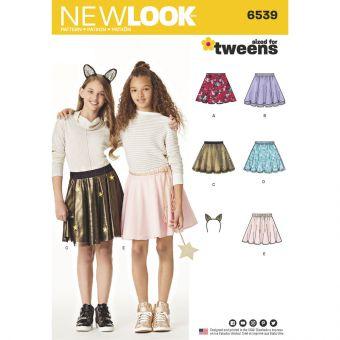 Patron New Look 6539 Jupe pour ado