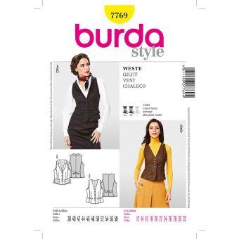 Patron Burda 7769 - Gilet Femme du 40 au 60