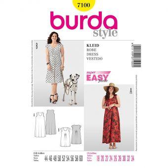Patron Burda 7100 - Robe femme du 46 au 62