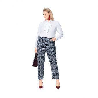 Patron Burda 6103 - Pantalons en look jean, coupe étroite du 44 au 54