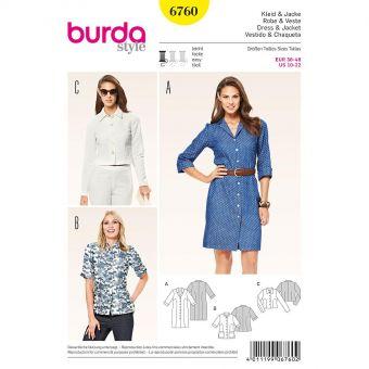 Patron Burda 6760 Robe et veste