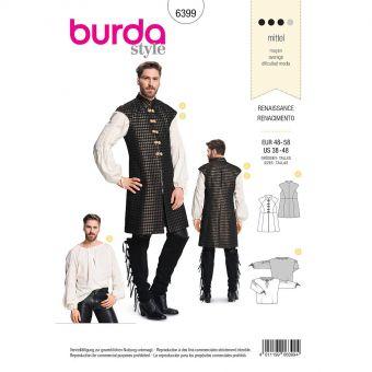 Patron Burda Carnaval 6399 - Déguisement Historique Renaissance - Homme