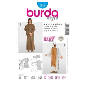 Patron Burda Carnaval 2822 - Déguisement Moine & Cheik Arabe Homme