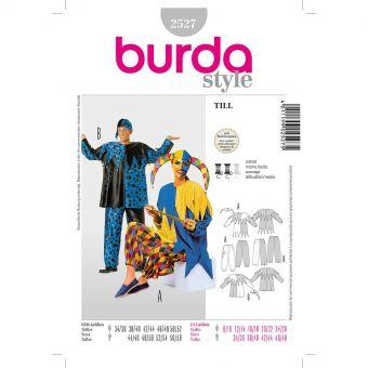 Patron Burda Carnaval 2527 - Déguisement Arlequin Adulte Mixte
