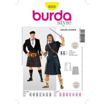 Patron Burda Carnaval 2515 - Déguisement Ecossais & Highlander Homme